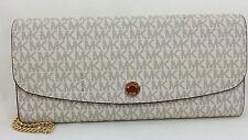 New Authentic Michael Kors MK Juliana Large Three-In-One Wallet Vanilla PVC