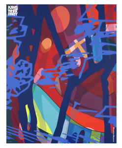 KAWS - WHAT PARTY Brooklyn Museum 2021 Exhibition Poster - SCORE YEARS-38x48 in.
