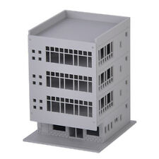 Scale Railway Modern City 4-Story Office Building House Model  Apartment
