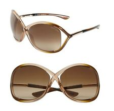 TOM FORD AUTH $419 Women's Whitney Open Sided Oversized Brown Sunglasses