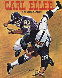 Carl Eller - Minnesota Vikings Poster, 8x10 Color Photo