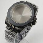 Black PVD Plated Watch Case Watch Bracelet Fit NH35 NH36 Sapphire Crystal
