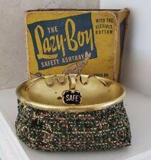 Vintage Lazy-Boy Safety Ashtray with Original Box, Bean Bag Bottom - Unused