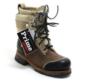 159 Stiefel Leder Prime Boots Schnürschuhe Worker Country Western Leder 38