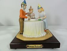 "Norman Rockwell "" Happy Birthday "" Statue - Exquisite - Showy"