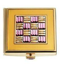 """Estee Lauder Solid Perfume Powder Compact """"Jeweled Checkerboard"""""""