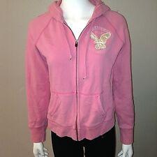 American Eagle Hoodie Size M Medium Womens Zip Up Hooded Jacket Pink Long Sleeve