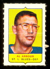 1969-70 OPC O-PEE-CHEE MINI 4 in 1 AL ARBOUR ST LOUIS BLUES VG-EX STAMP Sticker