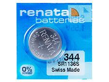 Renata 344 PILA Batteria Orologio Mercury Silver oxide Sr1136sw Swiss 1.55v