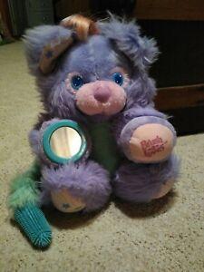 VTG 80s TYCO BRUSH A LOVES Purple Posy Teddy Bear Stuffed Toy Plush Pink