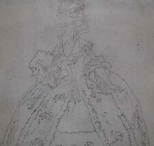 Originalzeichnungen (bis 1900) von Porträts & Persönlichkeiten mit Bleistift