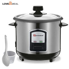 0.8L Automatic Electric Rice Cooker Stainless Steel Nonstick Warmer 350W