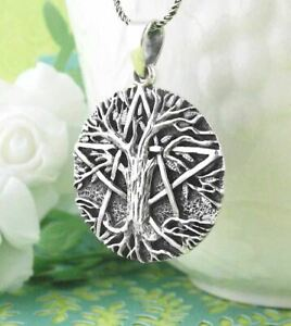 Tree of Life Pentacle Pentagram Pendant ONLY - Wiccan Pagan Sterling Silver 246