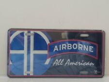 United States Army 82nd Airborne All American Embossed License Plate