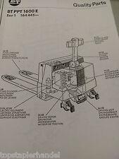 Ersatzteilbuch BT Elektro Deichselstapler PPT1600E Serie 1 ab Nr. 164445 -