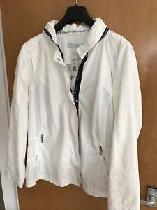 ARTIGIANO Ladies White Lined Weekend Jacket Size 16 BNWT