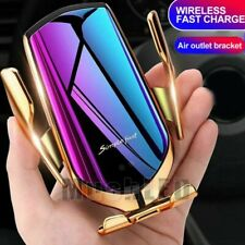 US Automatic Qi Wireless Car Clamping Charger Mount Air Vent Cell Phone Holder