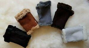 Lammfell fingerlose Handschuhe, Stulpen,warme Finger Trend, Pulswärmer,Geschenk