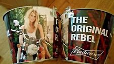 budweiser motorcycle girl beer bucket 2 pack...free shipping