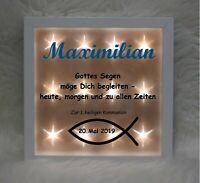 Beleuchteter Bilderrahmen - Zur 1. Kommunion oder Konfirmation (50) - Geschenk
