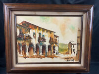 Vintage Midcentury Marchello Oil Painting Artist Signed Framed Beautiful