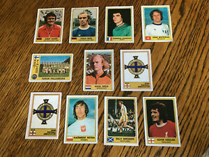 Panini Euro football stars unused stickers 1970s x 12 inc Keegan, Bremner, Maier