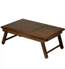 BEST! Winsome Alden Lap Desk/Bed Tray with Drawer, Walnut