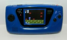 Blue Sega Game Gear System Console with McWill Upgrade LCD Caps + Free Game WOW