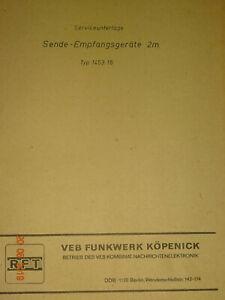 UKW- Sprechfunkgeräte UFS722, Service und Schaltbilder, RFT / Funkwerk-Köpenick
