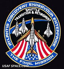 ORIGINAL NASA FINAL MISSION -TRANSITION & RETIREMENT- SPACE SHUTTLE PATCH