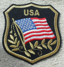 UNITED STATES OF AMERICA FLAG IN SHIELD PATCH Embroidered Badge 7cm x 8cm USA