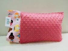 "Nwt Sports Pink Minky Toddler Pillowcase 12""x16"" Travel Size Softball Ballet"