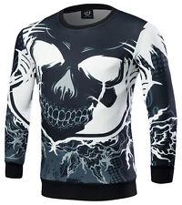 Womens Mens 3D evil skull Print Hoodie Sweatshirts Pullover Top Tracksuit Jumper