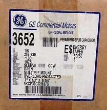 "~DiscountHVAC~MS-03652-GE PSC Motor 1/6HP 230V 1A 1075RPM 3SP 7X1/2X8-3/4"" CCW"