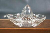 Vtg.Art Deco Lemon Fresh Fruit Glass Reamer Squeezer Juicer Boat Kitchen Utensil