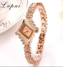 ROSE GOLD  Rhinestone Designer Style Ladies Women's Crystals Bling Party Watch
