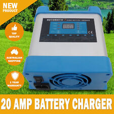 NEW 7 Stage 20 AMP Fully Automatic Caravan Battery Charger 40 to 400Ah