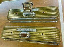 ORIG? 1957 / 1958 Oldsmobile Offenhauser Finned CAST Chrome Valve Covers SUPERB