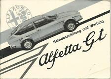 ALFA ROMEO ALFETTA GT Betriebsanleitung 1974 Bedienungsanleitung Handbuch BA