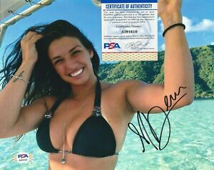 MACKENZIE DERN Autographed Signed 8x10 Photo - PSA/DNA COA SEXY UFC MMA Fighter