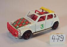 Majorette 1/60 Nr. 231 Citroen Dyane Rallye weiß Haube mit Karo #479