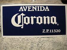 CORONA Cerveza Beer Avenue AVENIDA Z.P.  11320 ~ NEW ~ 24x12 ~ Tacker Sign Bar