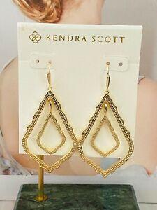 New Kendra Scott Sophee Drop Earrings gold