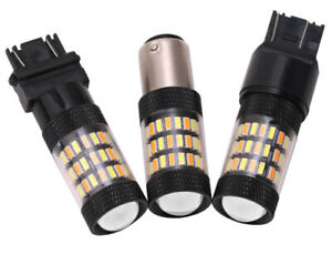 2x 60SMD LED Turn Signal Light Amber White Dual Color Bulbs 7443 3157 1157 T20