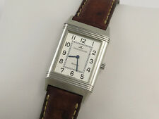 JAEGER LeCOULTRE REVERSO MID SIZE STEEL WATCH Box & Papers