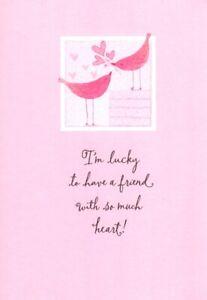 Happy Valentine's Day Friend Pink Bird Birds Friendship Hallmark Greeting Card