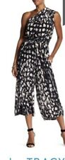 Tracy Reese Silk One Shoulder Culotte Jumpsuit Nwt $498 Size 2X