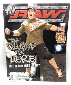 WWE RAW MAGAZINE The Champ Is Here Holiday Cover 2005 W/ John Cena Poster