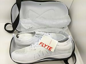 Nfinity Flyte Cheer Shoes Cheerleading Stunt Shoe White with Case NEW Size 13