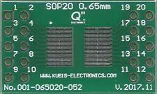 """SOP20,MSOP20,TSOP20 0.65mm(0.026"""") naar 2 x IDC2x5 connector. [NL]"""